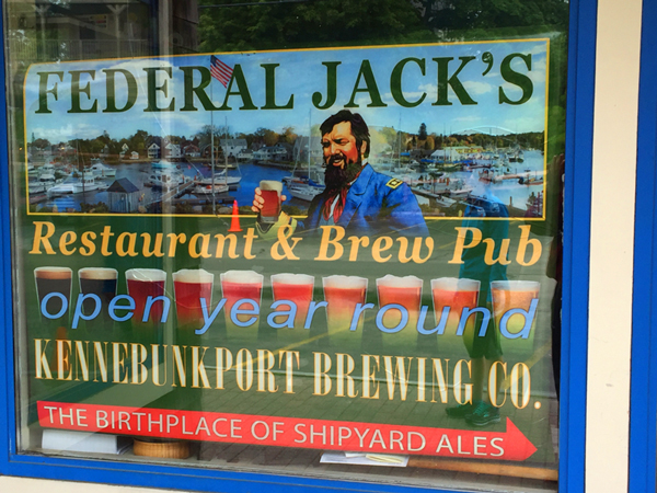 Federal Jack's - the birthplace of Shipyard Ales. It was fun to enjoy a lobster roll and a Shipyard Export here.