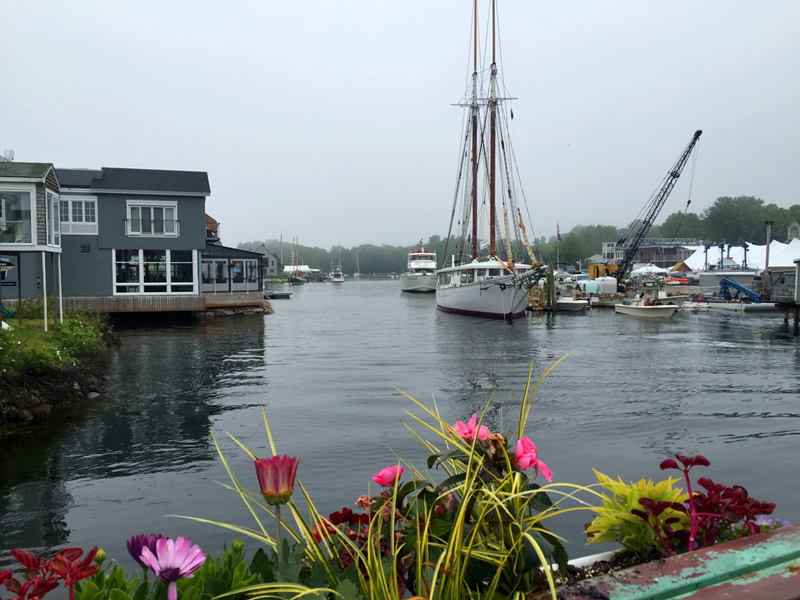Kennebunkport, ME waterfront on a cool June morning.