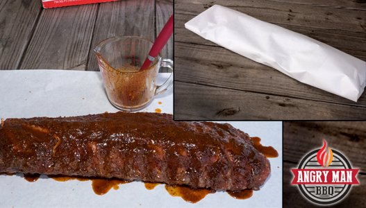 Angry Man Style Ribs wrapped in butcher paper