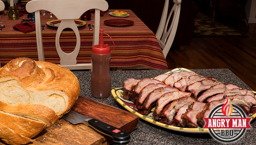Baby Back Ribs 2 Ways ready to serve with BGE baked Parmesan bread.