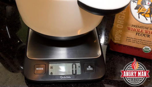 A god kitchen scale is an essential tool for a good baker. They are not expensive and provide a greater accuracy in measuring ingredients.