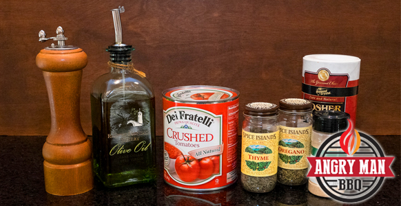 All you need to make great tomato sauce for your pizza.