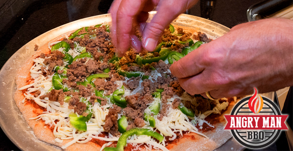 Arrange your toppings as you like - sometimes we want a lot and other times we add only a little.
