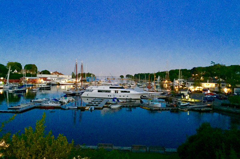 Camden Harbor in the evening. What a beautiful place!