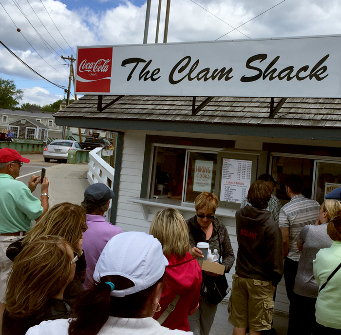 Right on the side of road & the water in Kennebunkport - The Clam Shack serves one mighty fine Lobster Roll.