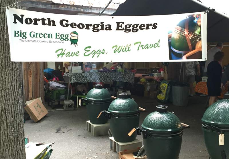 The North Georgia Eggers tent at the Georgia Mountain Eggfest in Hiwassee, GA. May 2016